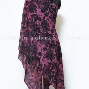 Cashmere Wool Print Scarf