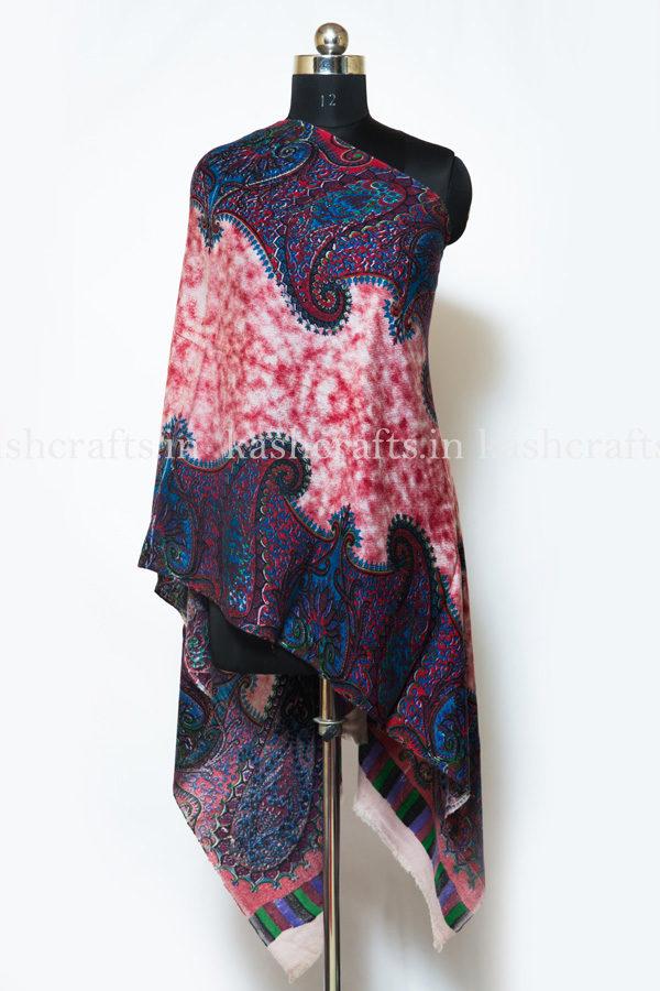Cashmere Wool Print Scarf