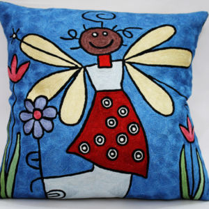 Silk Embroidered Cushion Covers