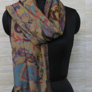 Animals Design Kani Jamawar Scarf