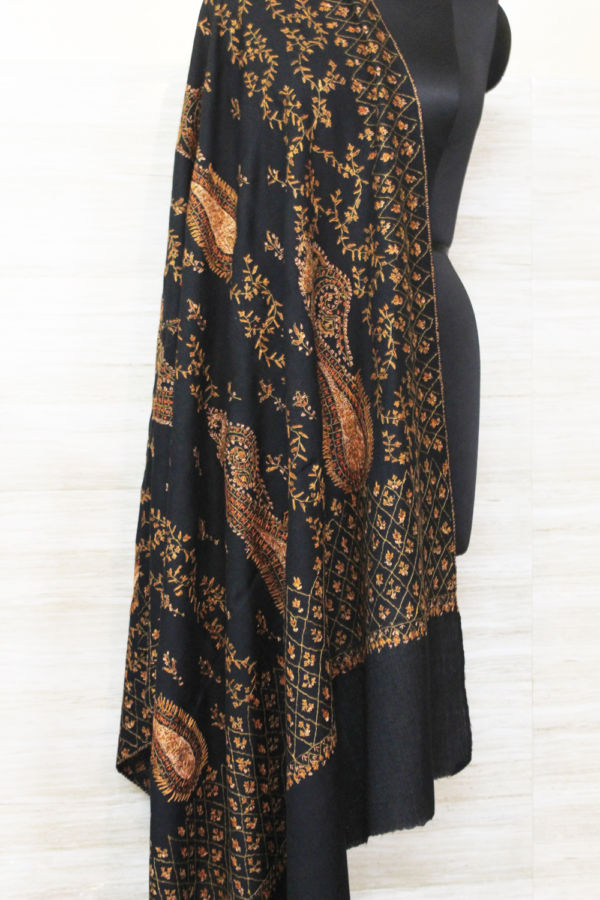 Cashmere Midnight Paisley Wrap