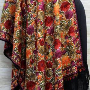 Kashmir Embroidery Fine Ascots