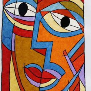 Hand Embroidered Picasso Rug