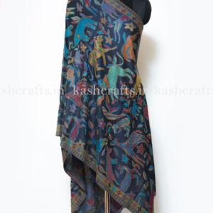 Multi color Kani Jamawar Scarf