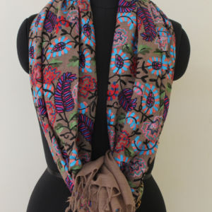 Cashmere Aari Embroidery Scarf