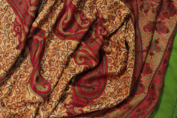 Embroidery Paisley Scarf