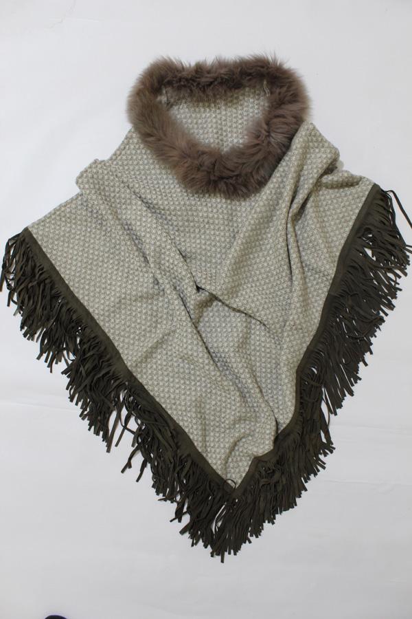 Designer Cashmere Fox Cape