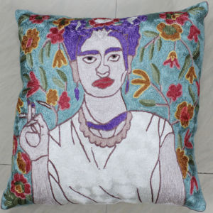 Embroidered Silk Pillow
