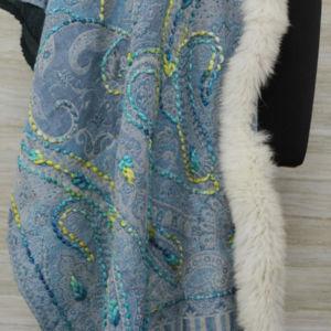 Cashmere Cerulean Wrap