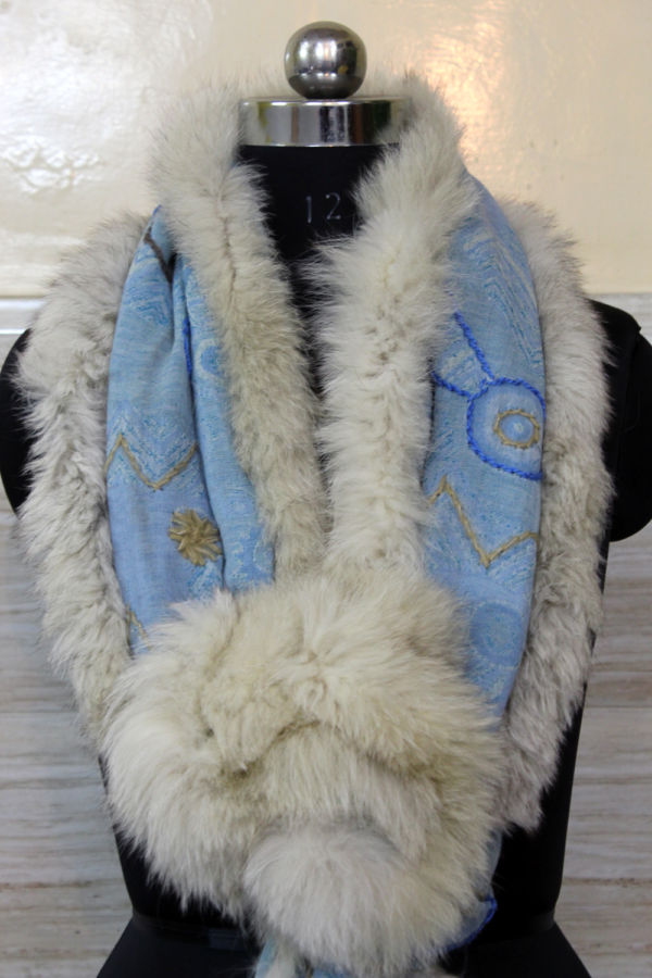 Turquoise Cashmere Ascot