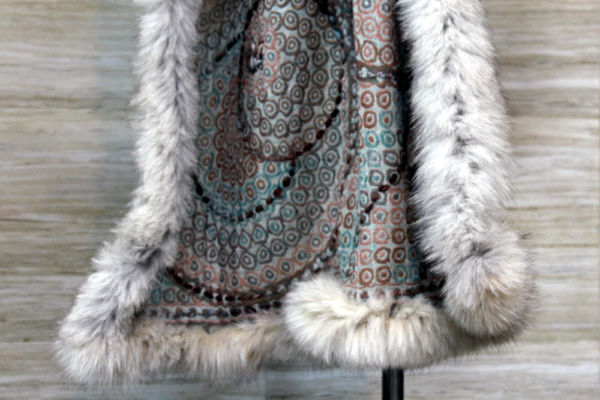 Emerald Cashmere Fox Wrap