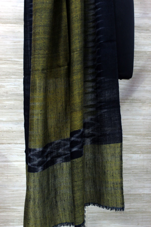 Olive Green Ikat Scarf