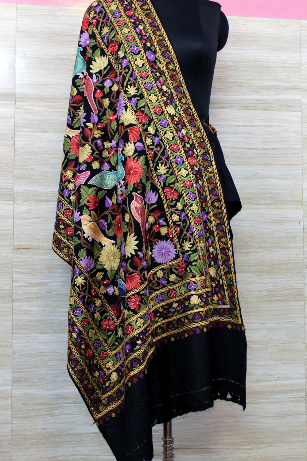 Antique Handwork Jamawar Wrap
