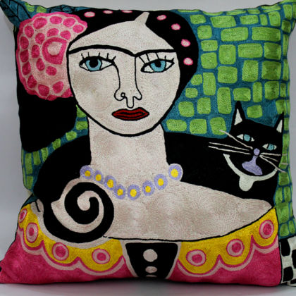 Frida Love Cats Pillow