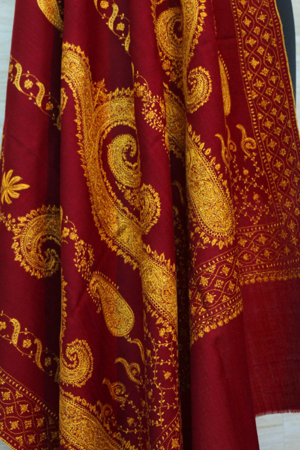 Antique Paisley Embroidery Shawl