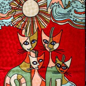 Picasso Cats Wall Tapestry