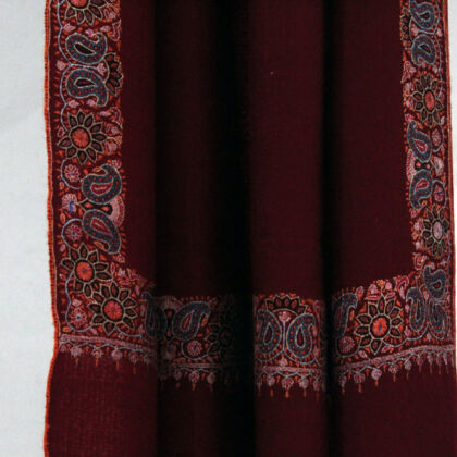 Pashmina luxury Wine Shawl